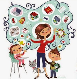 1busy-mom-smiling-happy-clipart